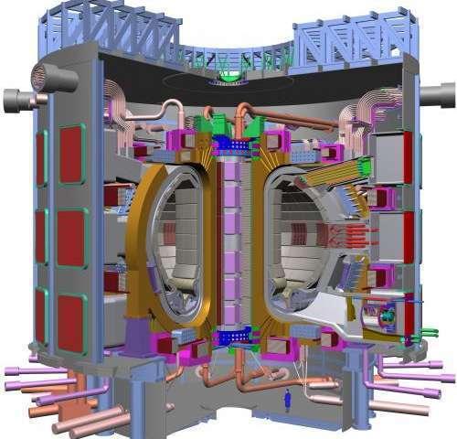 A look inside the ITER tokamak reactor.