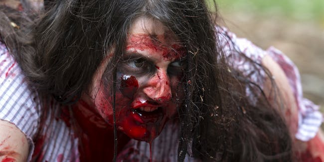 Woman at a recent zombie festival in Australia.