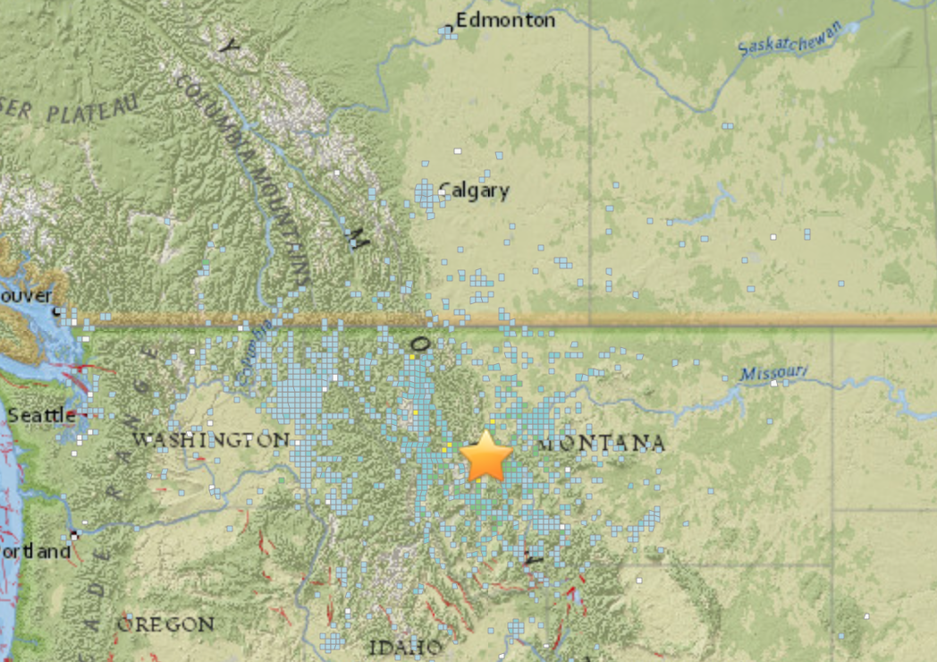 Montana Earthquake How to Read the USGS Earthquake Map Inverse