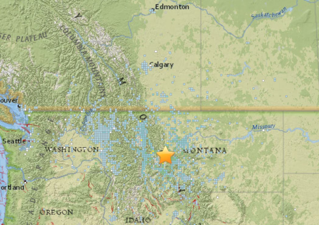 Montana Earthquake: How to Read the USGS Earthquake Map | Inverse