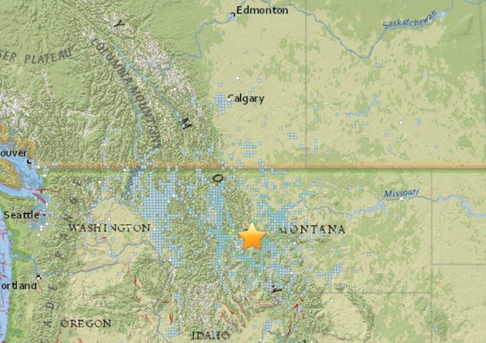 earthquake map DYFI USGS