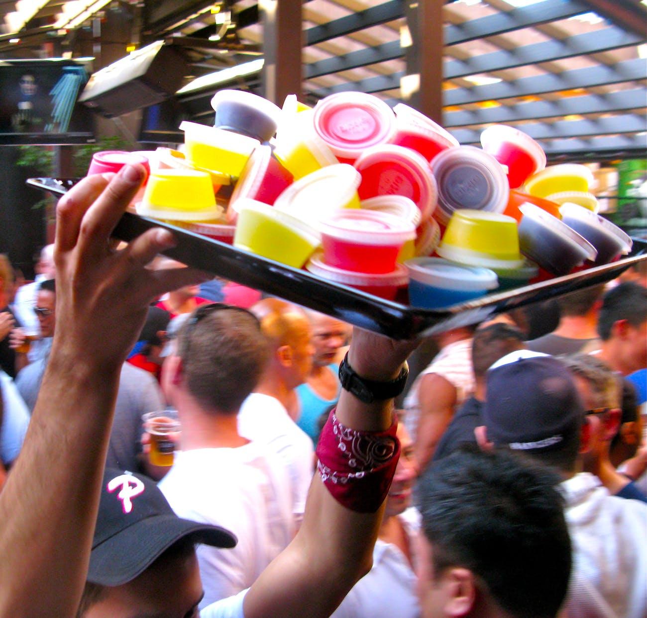 vodka jello shots for the rainbow boys : toad hall, castro, san francisco (2012)