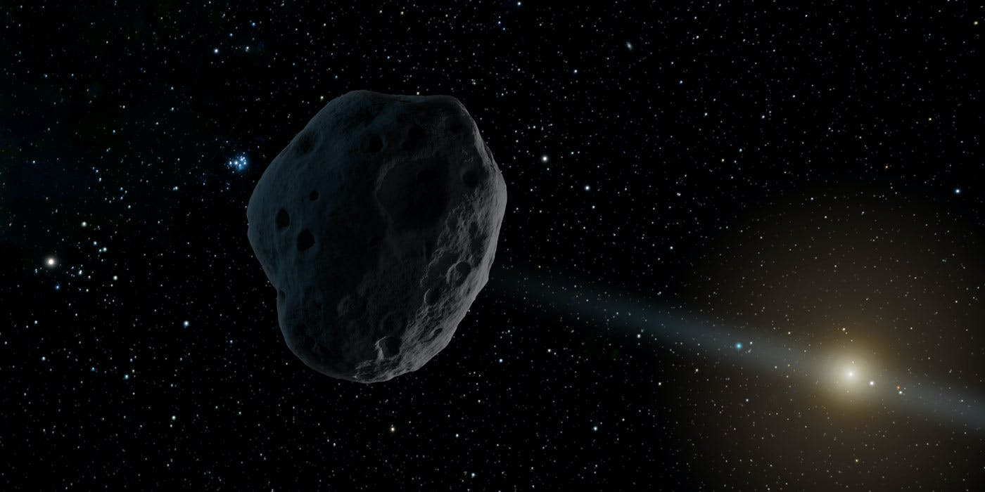 Artist's rendering of 2016 WF9, one of two recently discovered objects of interest to NASA.