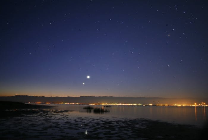 Venus and Jupiter in the morning sky