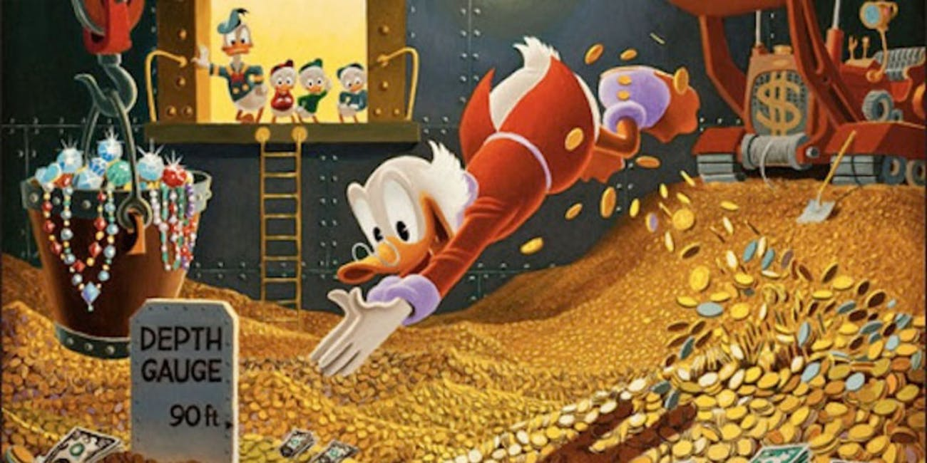Scrooge McDuck gold