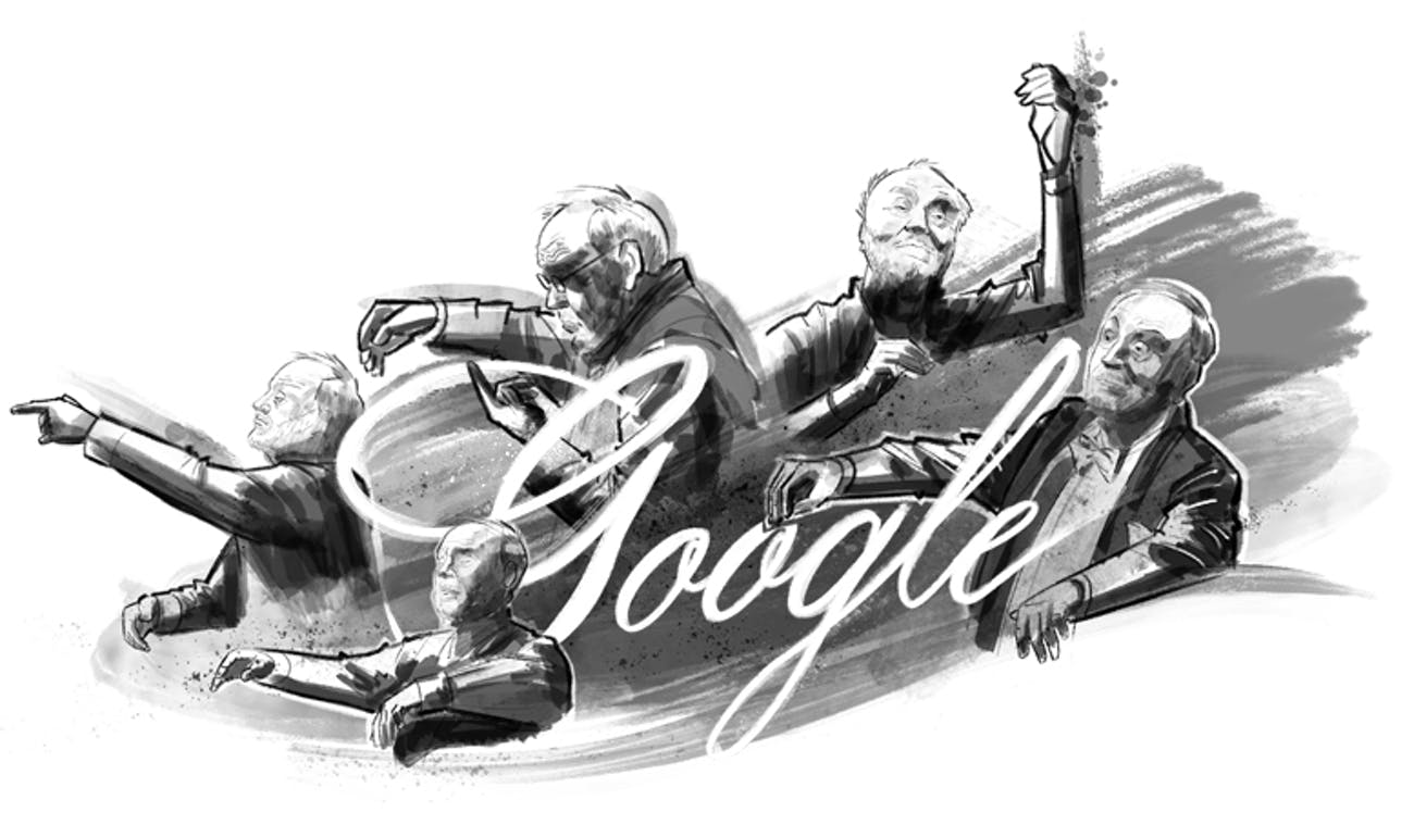 July 18's Google Doodle commemorates what would have been conductor and humanitarian Kurt Masur's 91st birthday.