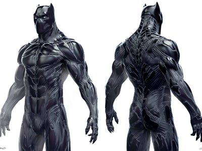 These Rejected Black Panther Designs Make T'Challa Look Sort of Alien