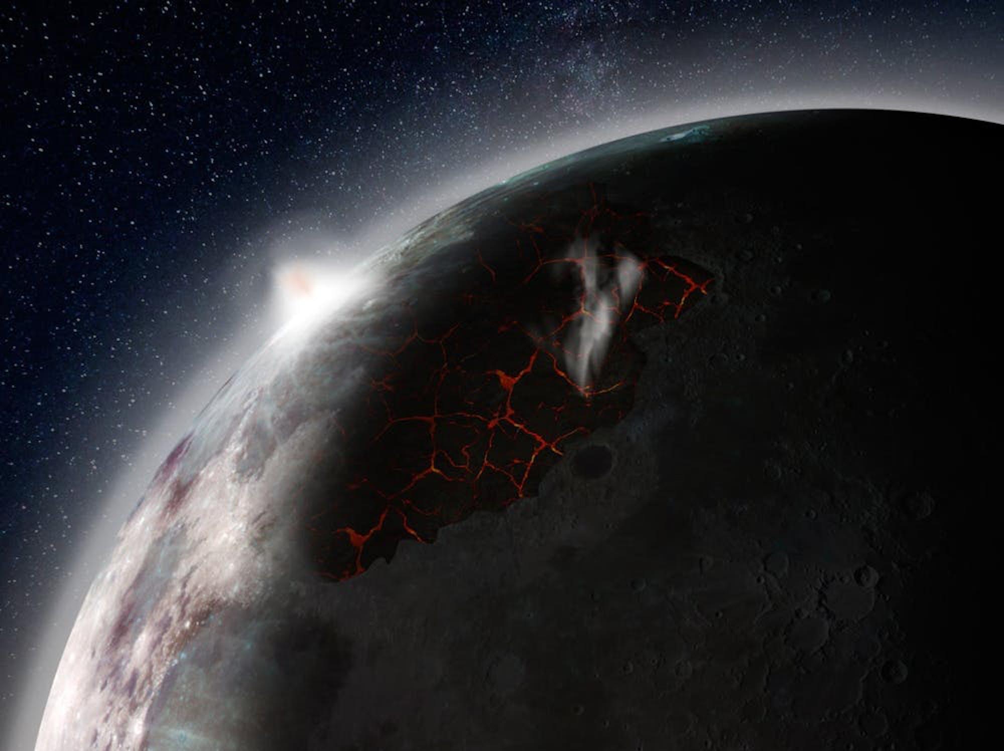 NASA volcano moon
