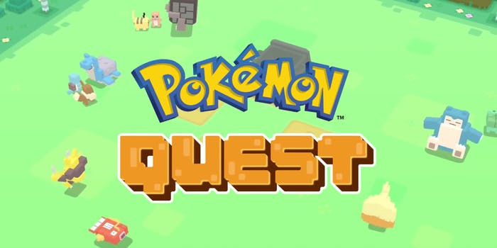 Here's how to get the five starters in 'Pokémon Quest'.