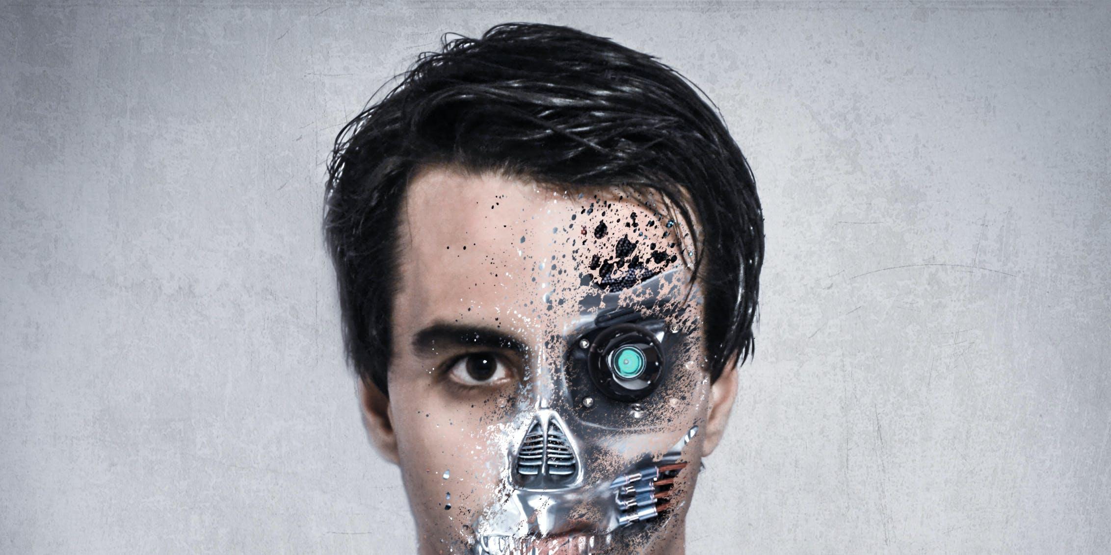 A illustration of a cyborg.