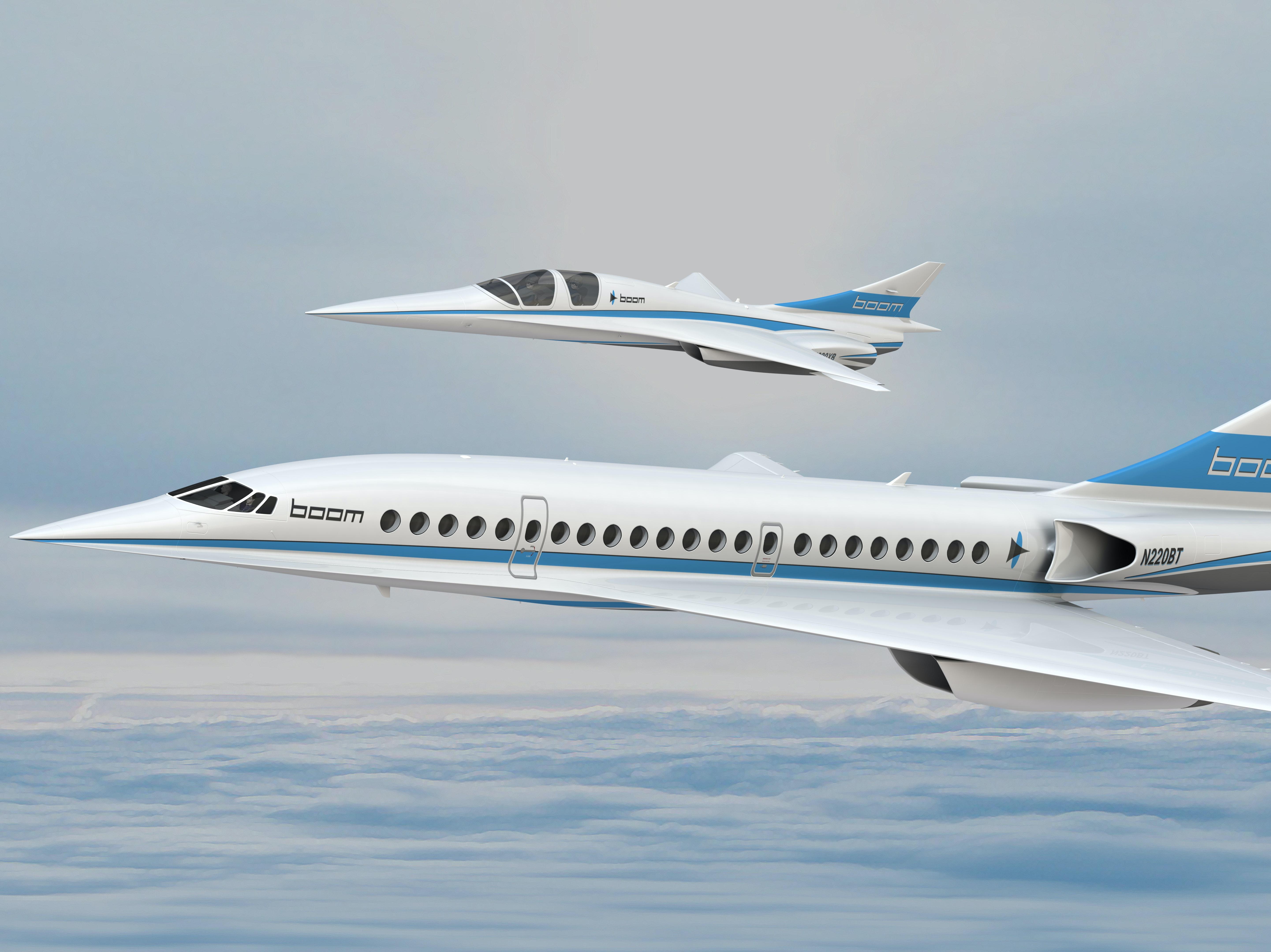 xb-1 and boom aircraft