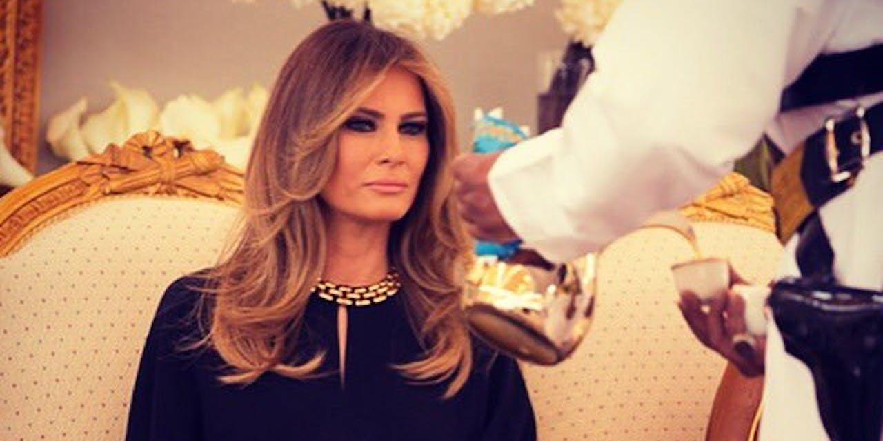 Melania Trump no headscarf