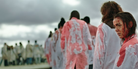 """A still from the zombie movie """"Raw."""""""