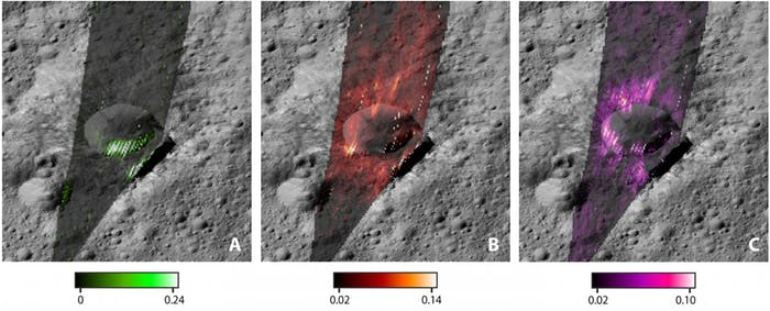 Ice, water, and sodium carbonate distribution across Ceres
