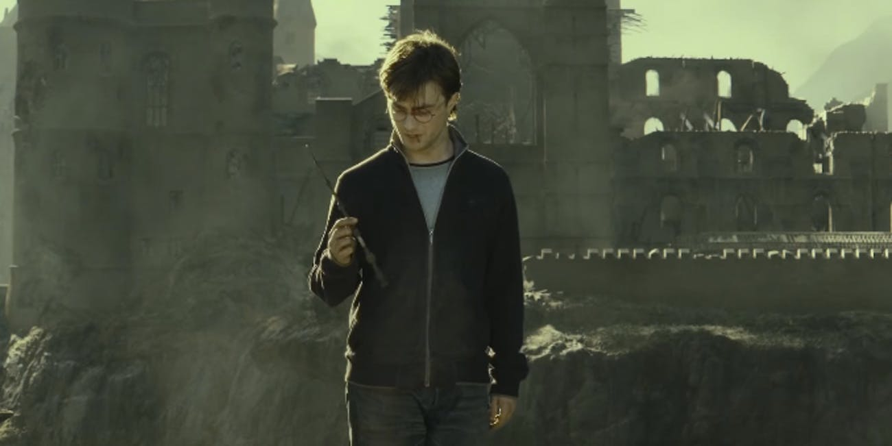 Harry Potter with the Elder Wand in 'Harry Potter and the Deathly Hallows'