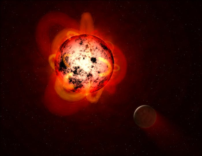exoplanet solar flare