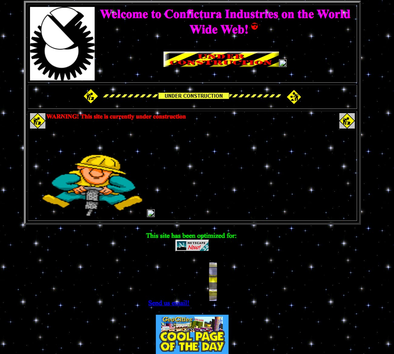 Mr Robot Qr Code Leads To Strange Website From 1996 Inverse Digital Visitor Counter The Site Itself Says Its Still Under Construction But Mentions That Been Optimized For New In 96 Netscape Version 30 And Has A