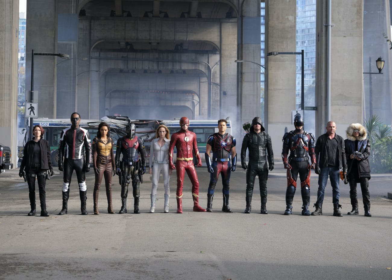 We should have seen it coming when Firestorm didn't line up for the final battle.