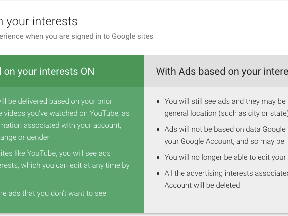 No more blocking ads that Google is serving you :(