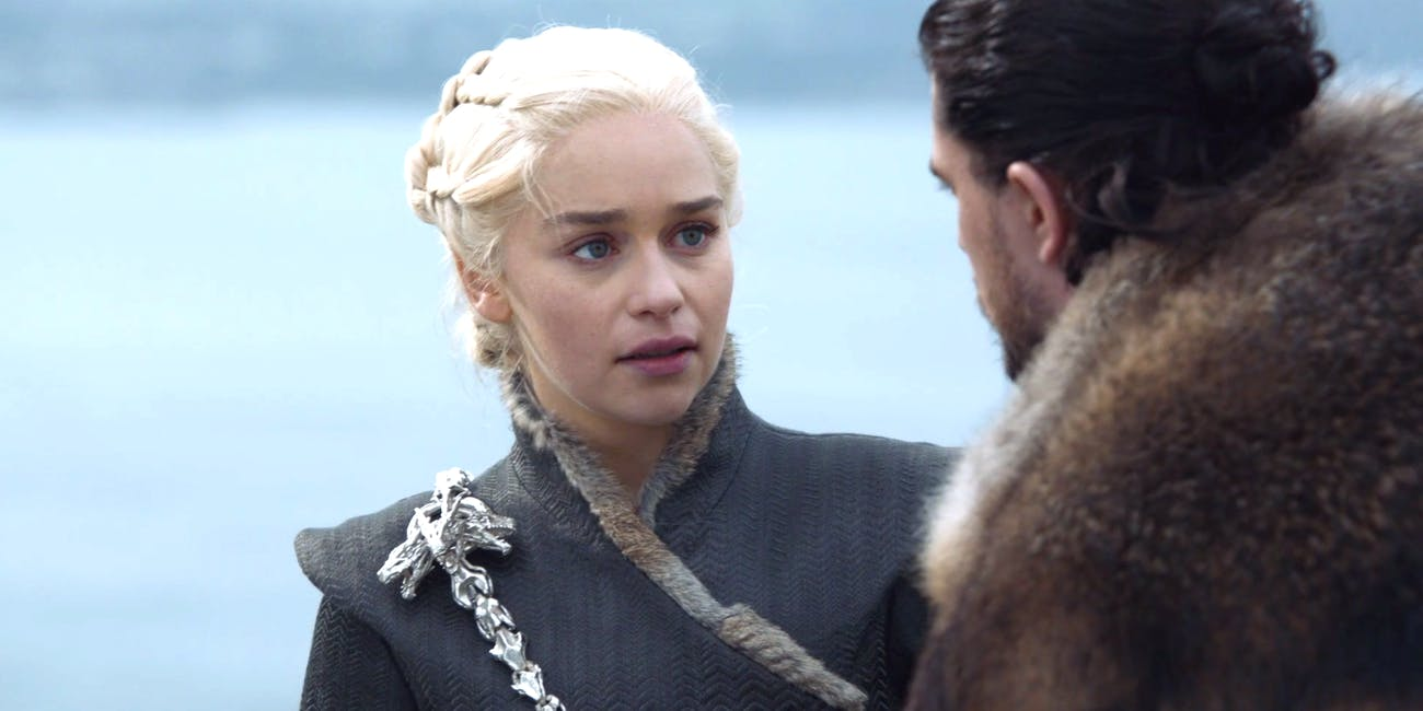 Daenerys Targaryen and Jon Snow in 'Game of Thrones' Season 7