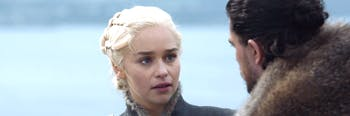 Daenerys Targaryen and Jon Snow in 'Game of Thrones' Season 7
