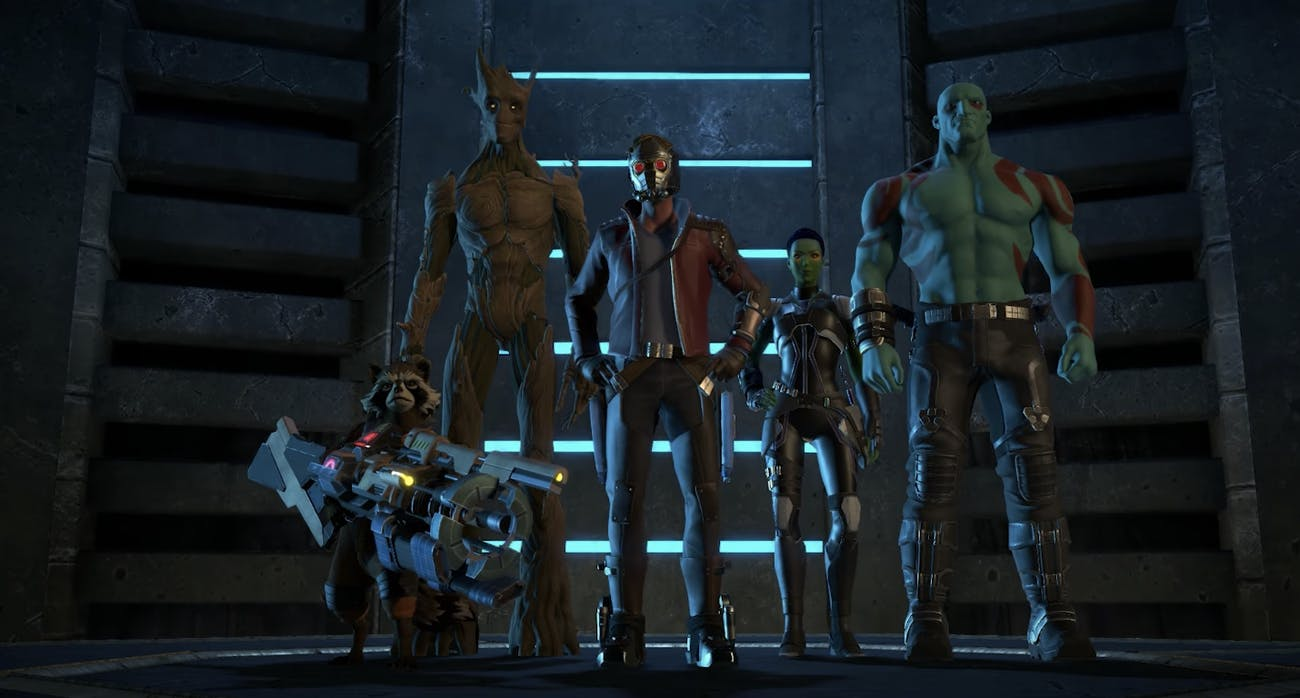 """The Guardians in Marvel's 'Guardians of the Galaxy: The Telltale Series"""""""