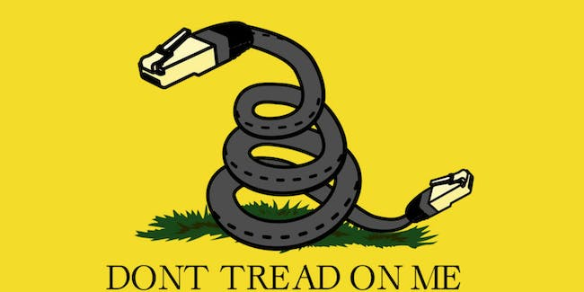 net neutrality don't tread on me poster