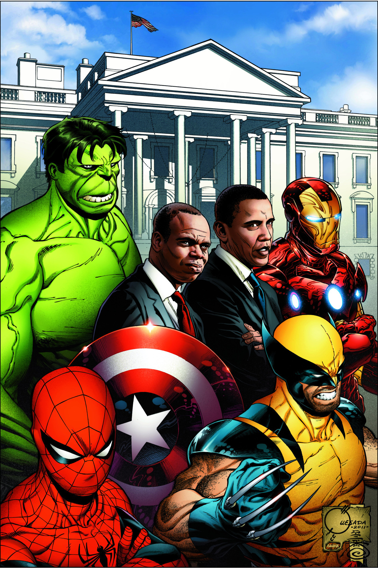 Joe Quesada Obama Marvel