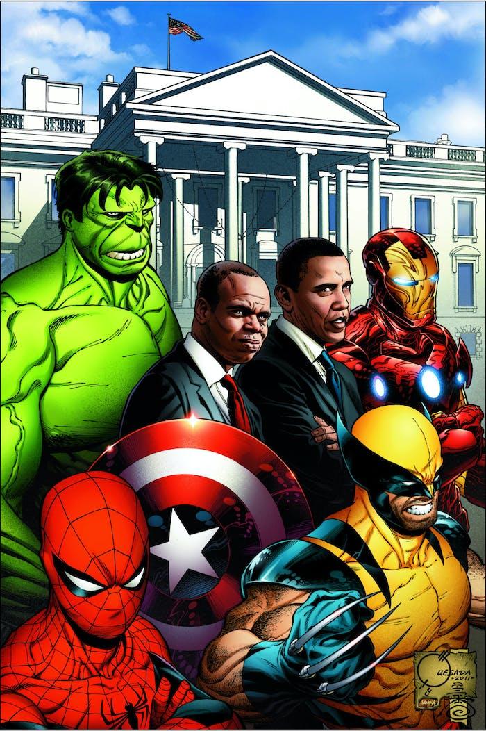 Joe Quesada Obama Marvel
