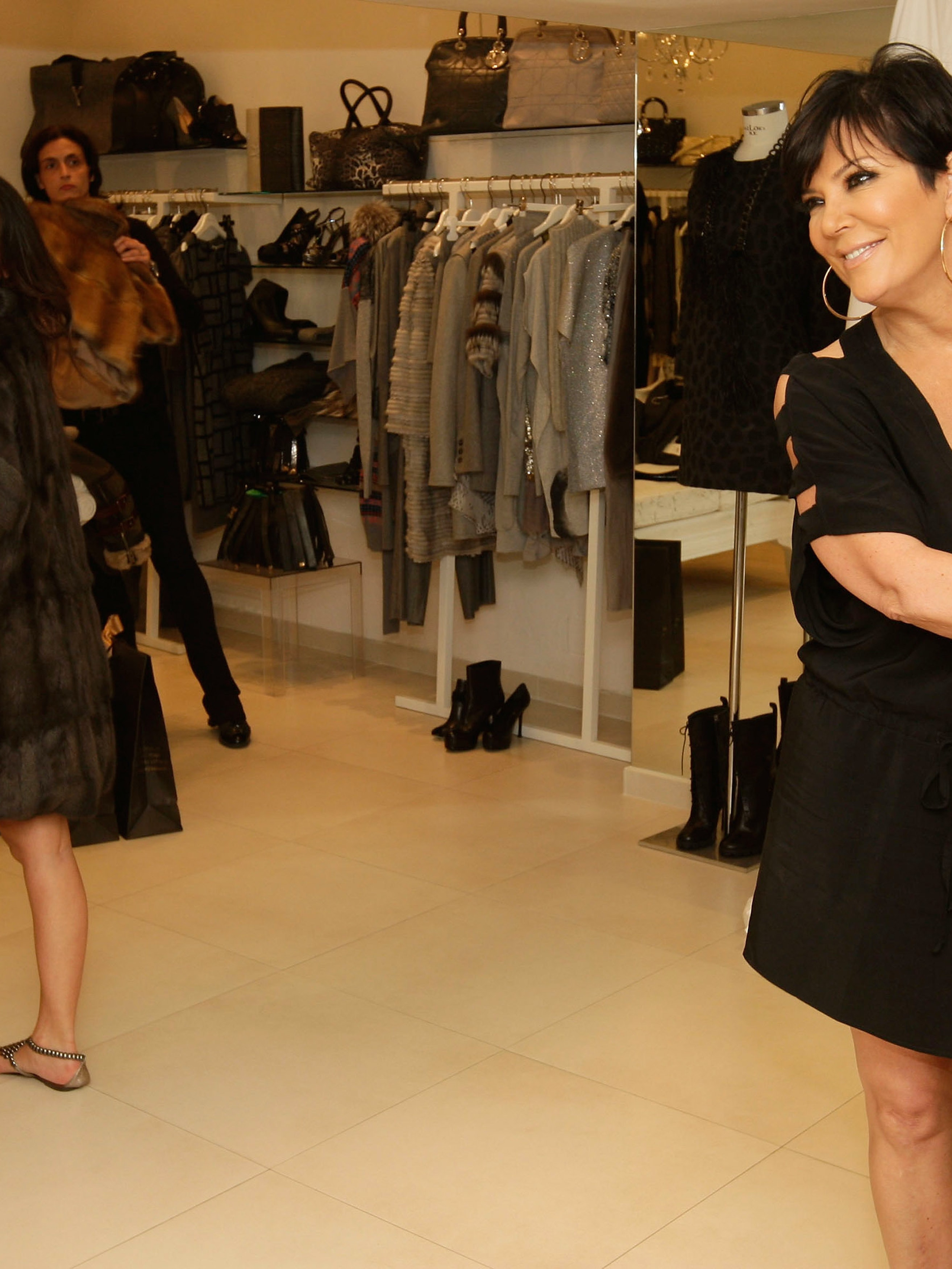 CAPRI, ITALY - SEPTEMBER 18:  Kim Kardashian and Kris Jenner are seen shopping at the Grey Flanel shop on September 18, 2010 in Capri, Italy.  (Photo by Getty Images/Getty Images)