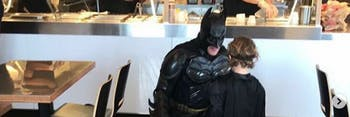Bruce Wayne celebrates his 500th Chipotle order