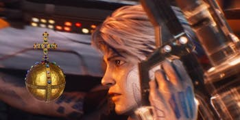 Parzival wields more than just guns in 'Ready Player One'.