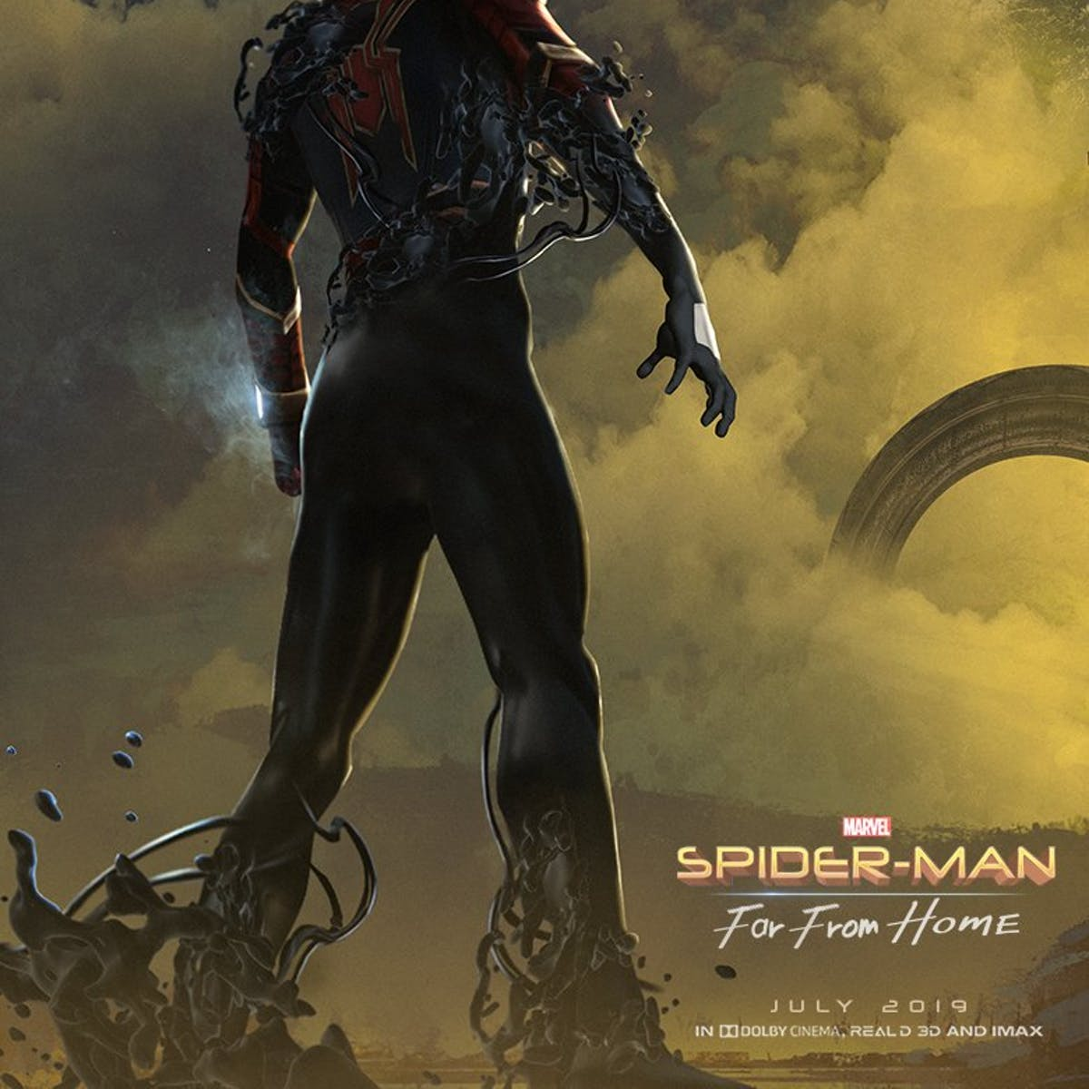1c33380288 'Spider-Man: Far From Home' Gets Venom Crossover in Impossible Fan Poster |  Inverse