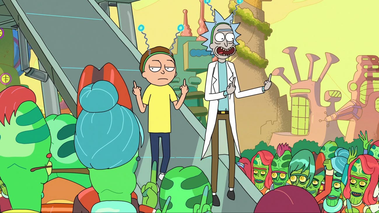 The titular characters of 'Rick and Morty'.