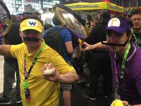Waluigi cosplay at NYCC 2018