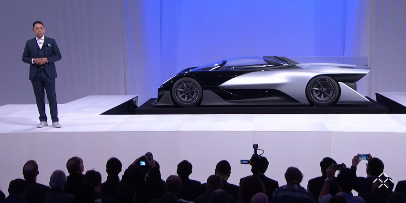 Faraday Future Unveils Its Concept Vehicle At Ces 2016