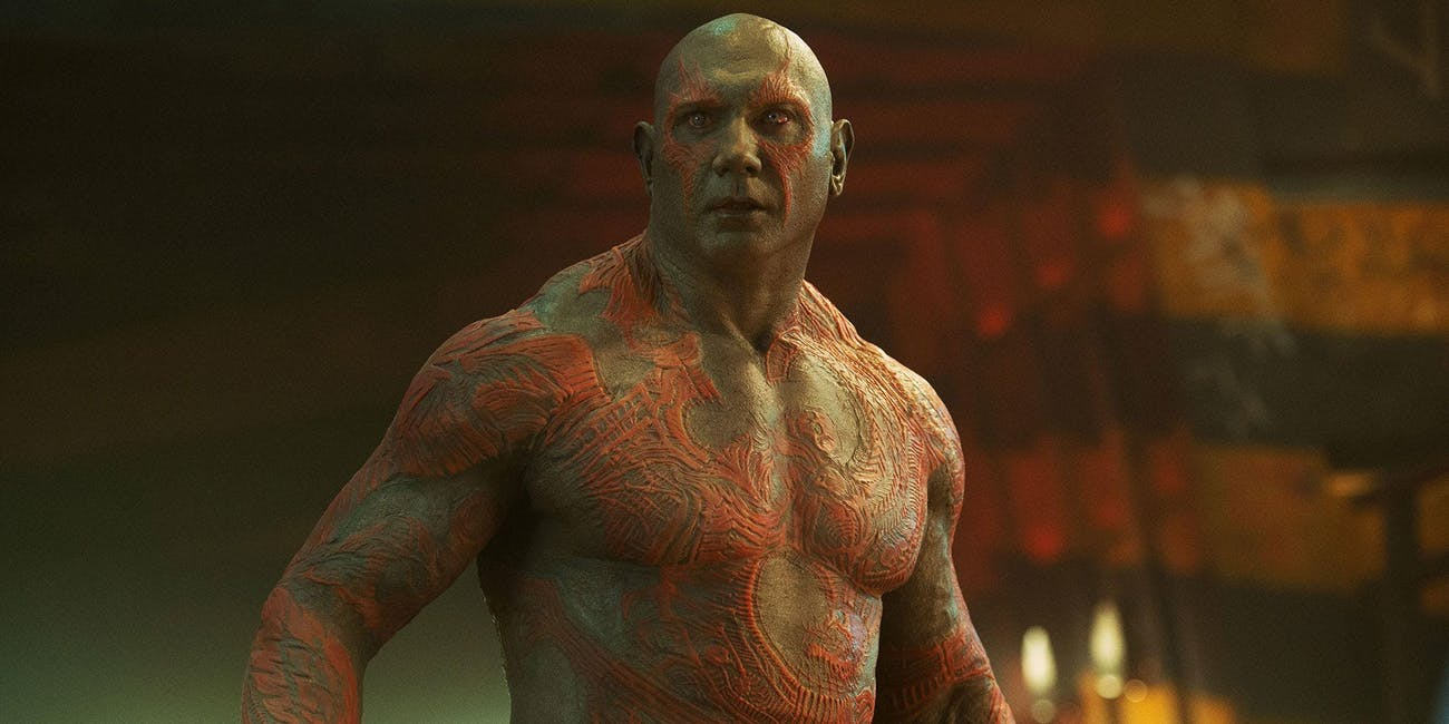 Dave Bautista plays Drax the Destroyer in the MCU.