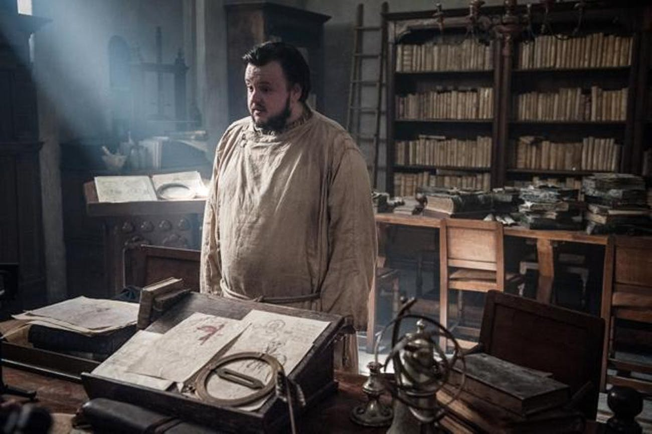 Sam Tarly in 'Game of Thrones' Season 7
