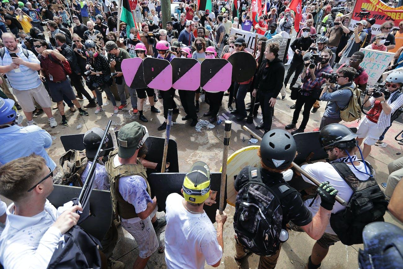 Charlottesville protestors