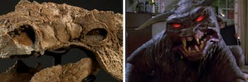 Zuul is the name of a fictional monster and a real dinosaur.