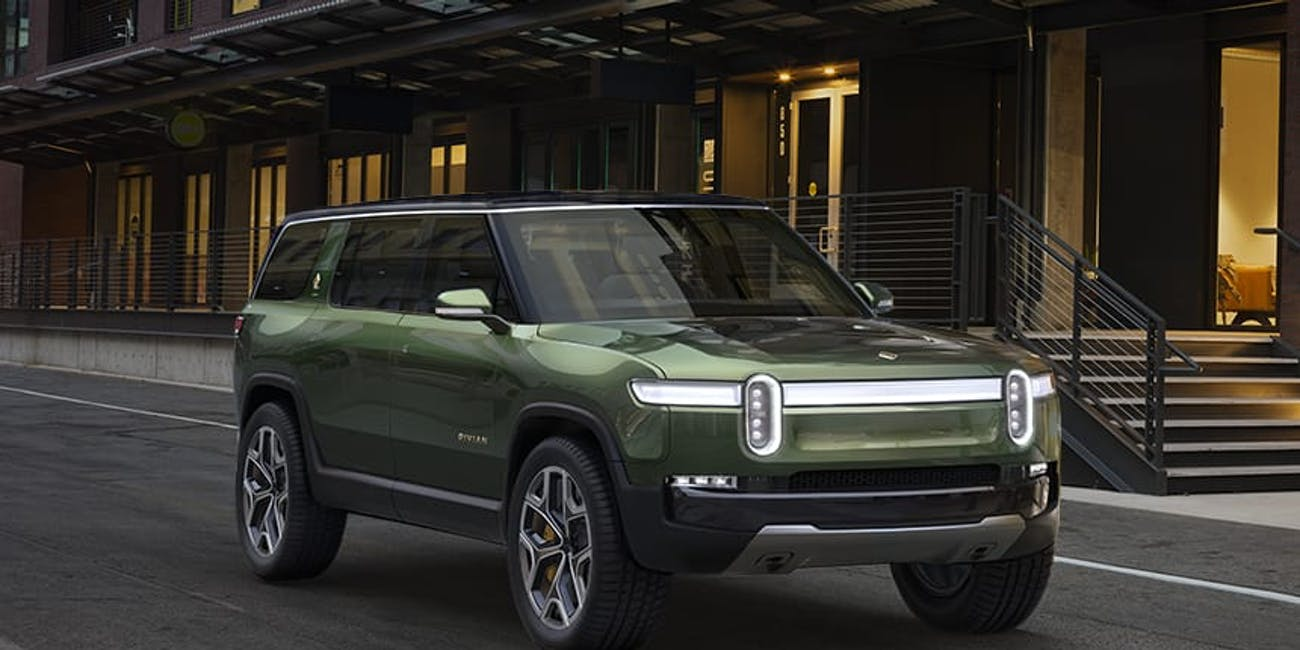 Exterior of the Rivian R1S.