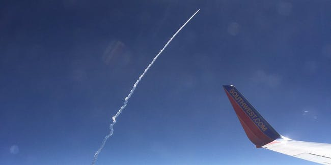 Here's What the ULA Atlas Launch Looks Like From a Passenger Plane