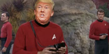 "The Trek against Trump campaign shows that Starfleet would kick Donald Trump off of ""Star Trek."""