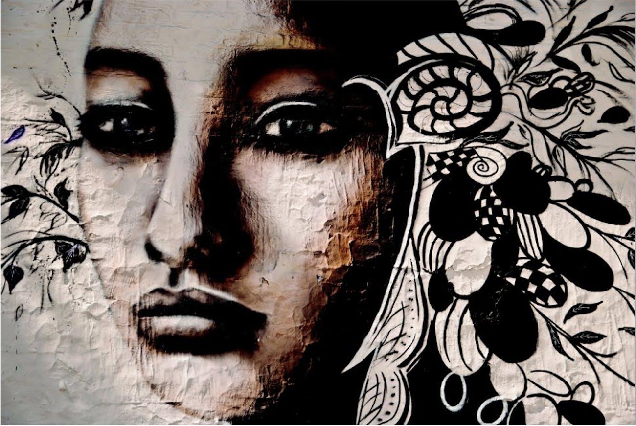 Screenshot of our doppelgänger,street art created by Buenos Aires artist LILIWENN