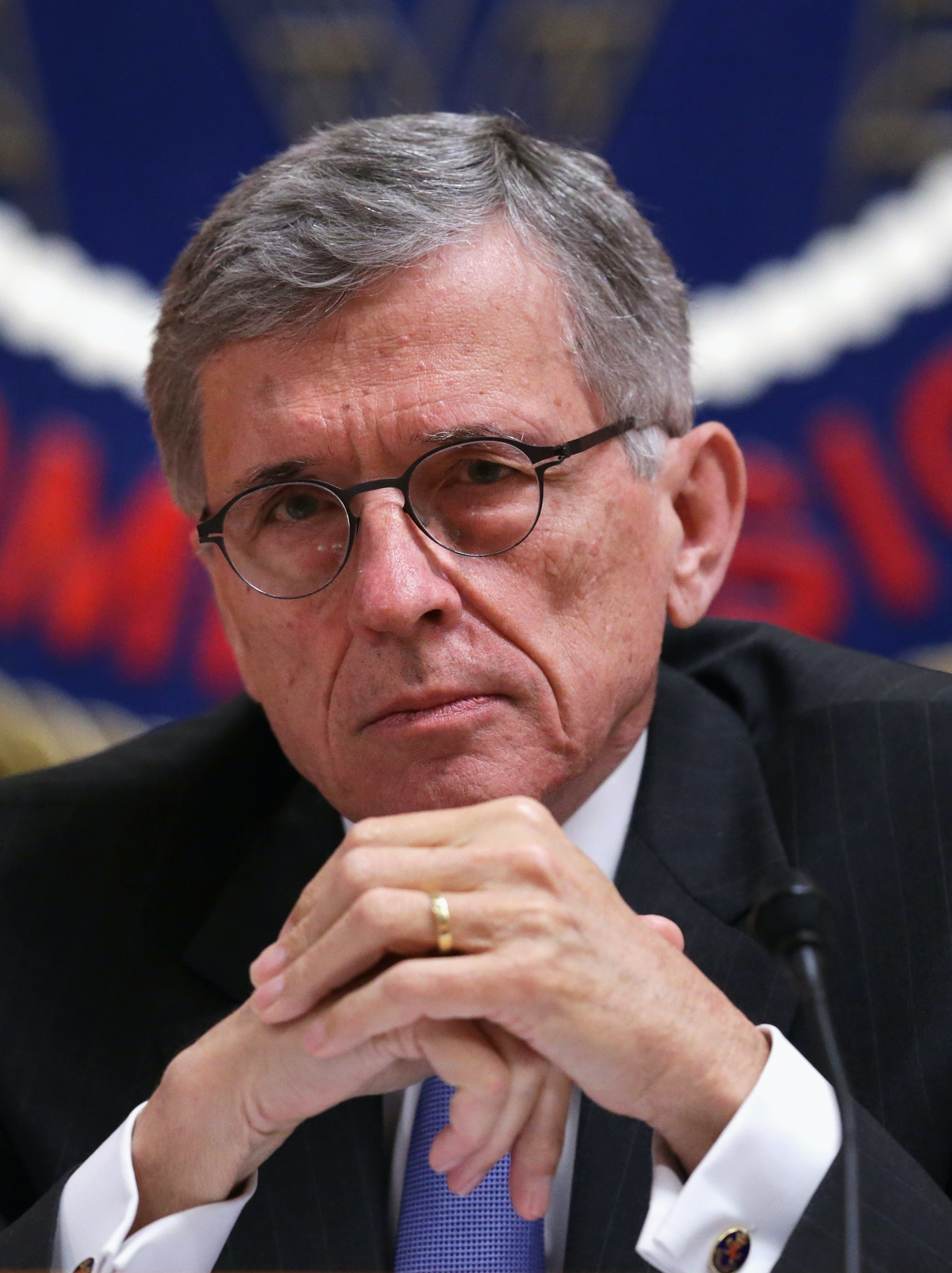 WASHINGTON, DC - MAY 15:  Federal Communications Commission (FCC) Chairman Tom Wheeler listens during an open meeting to receive public comment on proposed open Internet notice of proposed rulemaking and spectrum auctions May 15, 2014 at the FCC headquarters in Washington, DC. The FCC has voted in favor of a proposal to reform net neutrality and could allow Internet service providers to charge for faster and higher-quality service.  (Photo by Alex Wong/Getty Images)