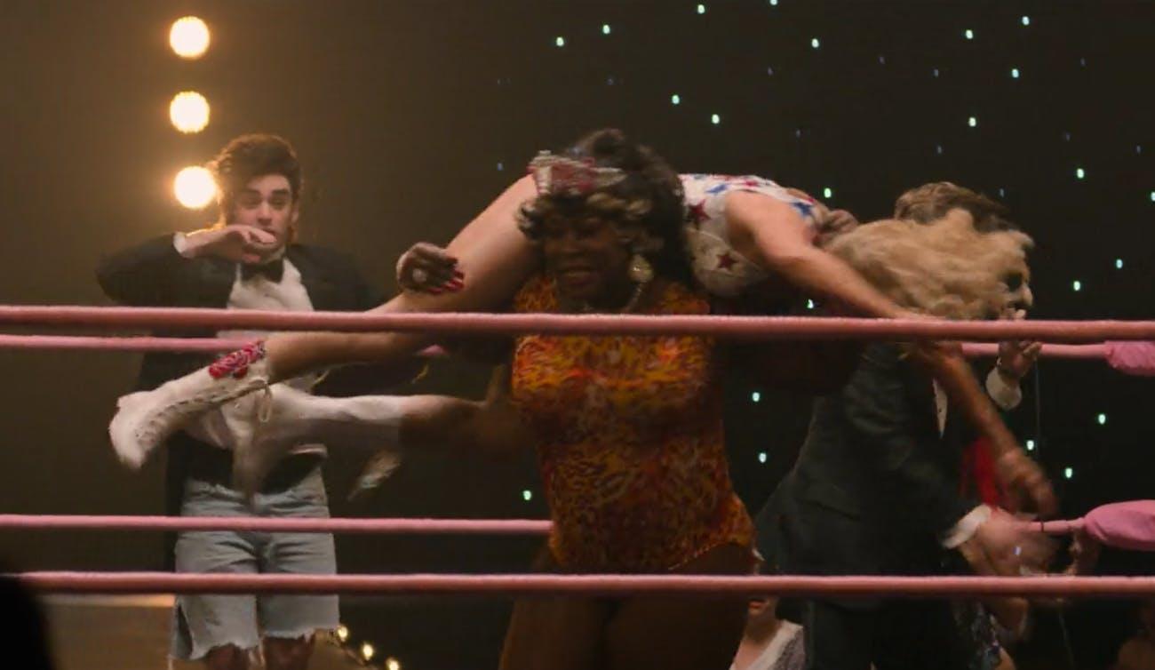 GLOW Netflix women's wrestling well-fare queen liberty belle Kia Stevens Betty Giplin