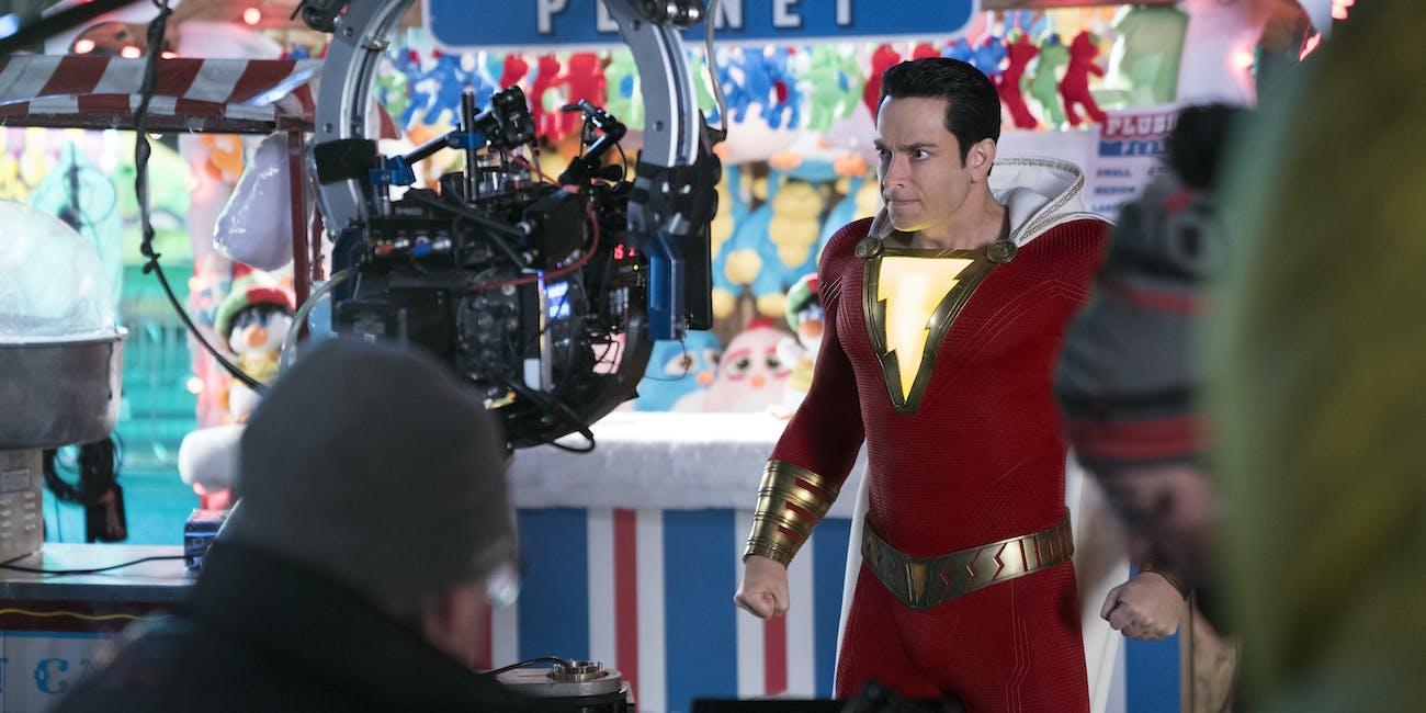 Shazam Behind the Scenes Zachary Levi