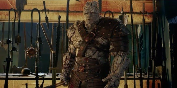 Korg is just such a friendly, murderous pile of rocks.
