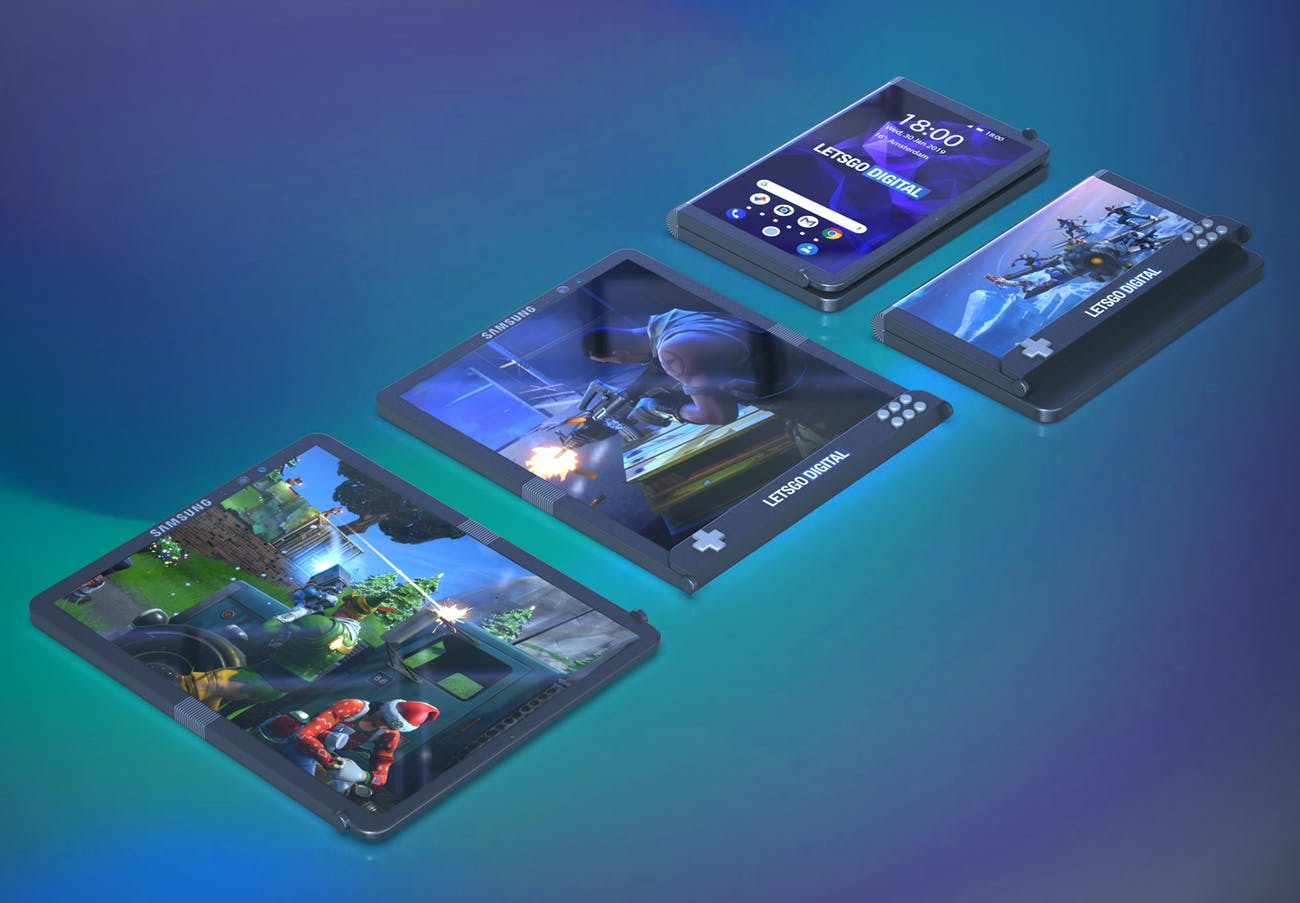 samsung foldable phone gaming concept