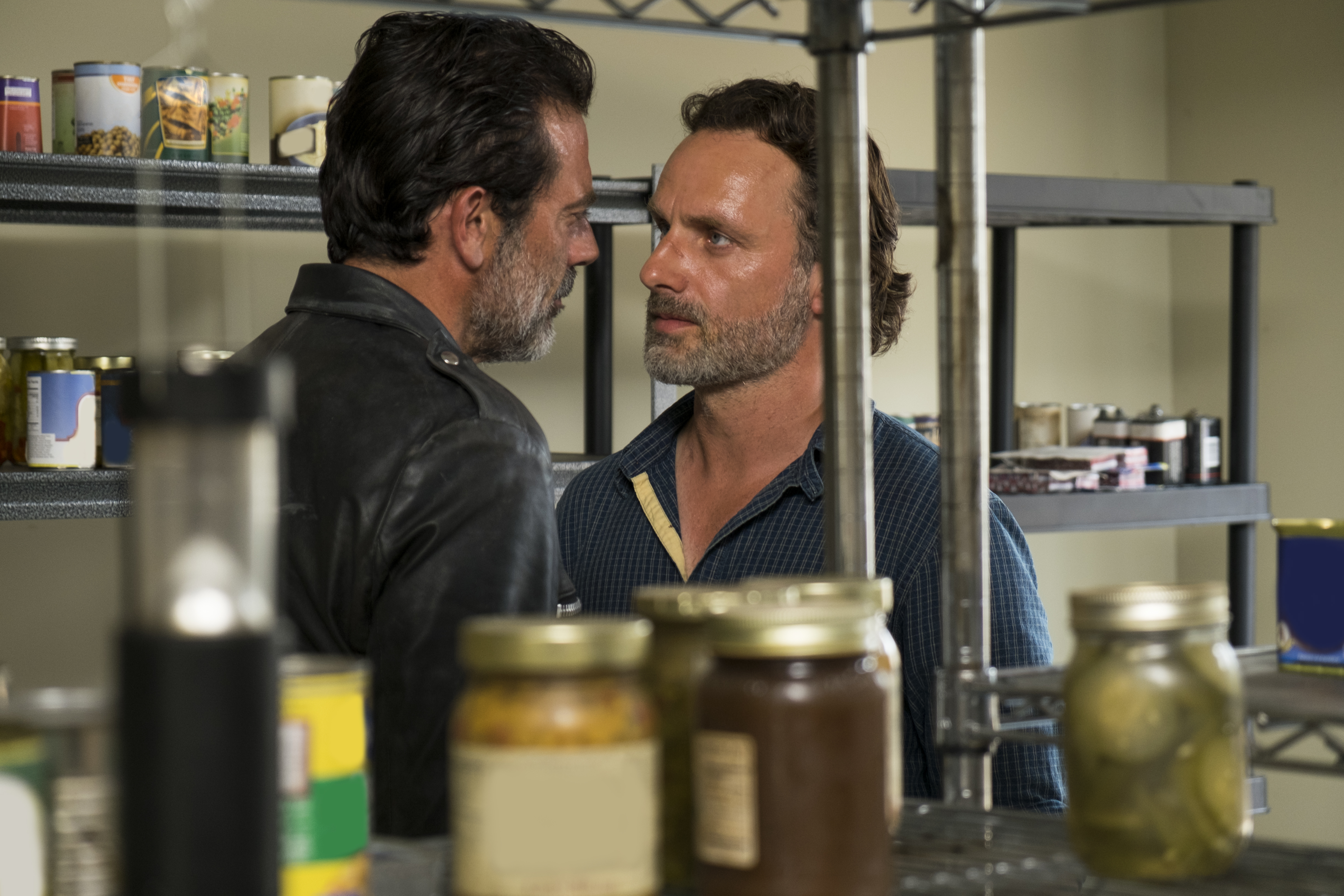 Negan's particular effect on Rick is evidenced by how often they're framed intimately.
